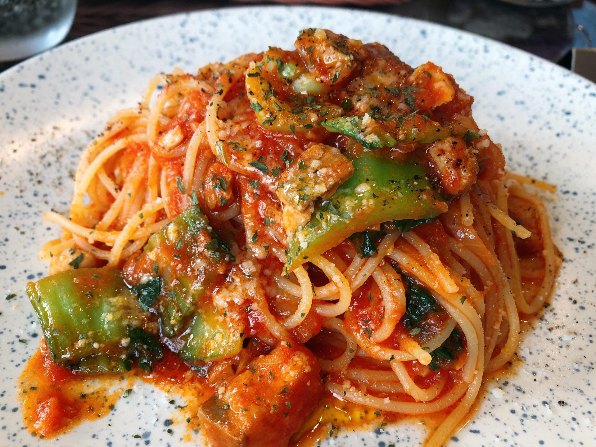 トラックターミナルの北すぐ近く イタリアンのVIGORE(ヴィゴーレ)は、噂通りパスタとピザのランチが大人気
