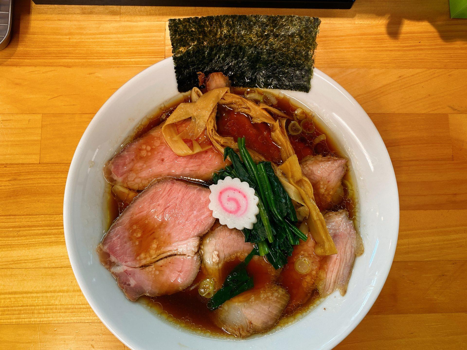 岡山駅から徒歩約5分 らぁ麺 はんにゃは開店1年半で人気店に!生姜が香る醤油ラーメンはスープも麺も激ウマ!