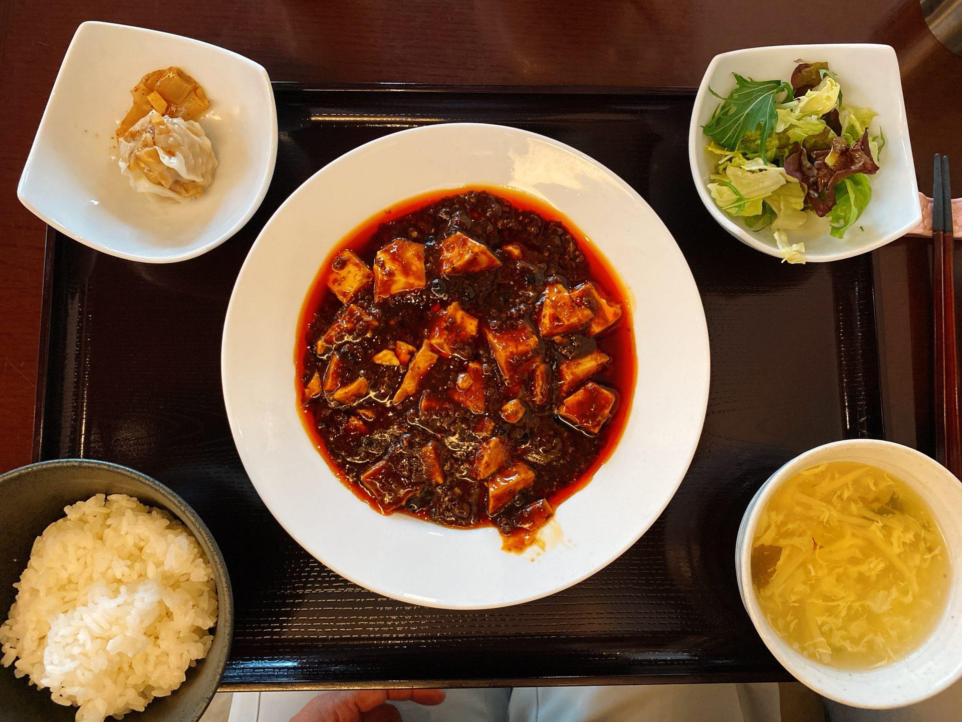岡山駅から車で5分 桃の華で頂く本格中国料理!ランチで食べた麻婆豆腐は絶品で、辛さと旨さは一度食べるとクセになる!