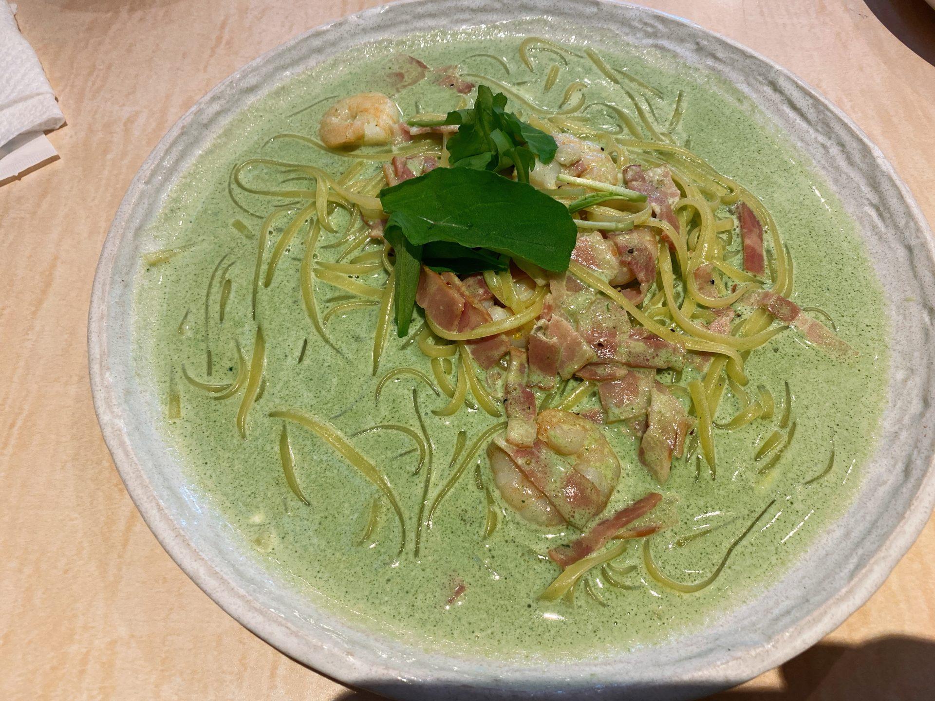 大多羅駅から徒歩5分 イタリアンカフェ ペスカトーレのランチで生パスタ!スープのようなたっぷりソースに食欲アップ!