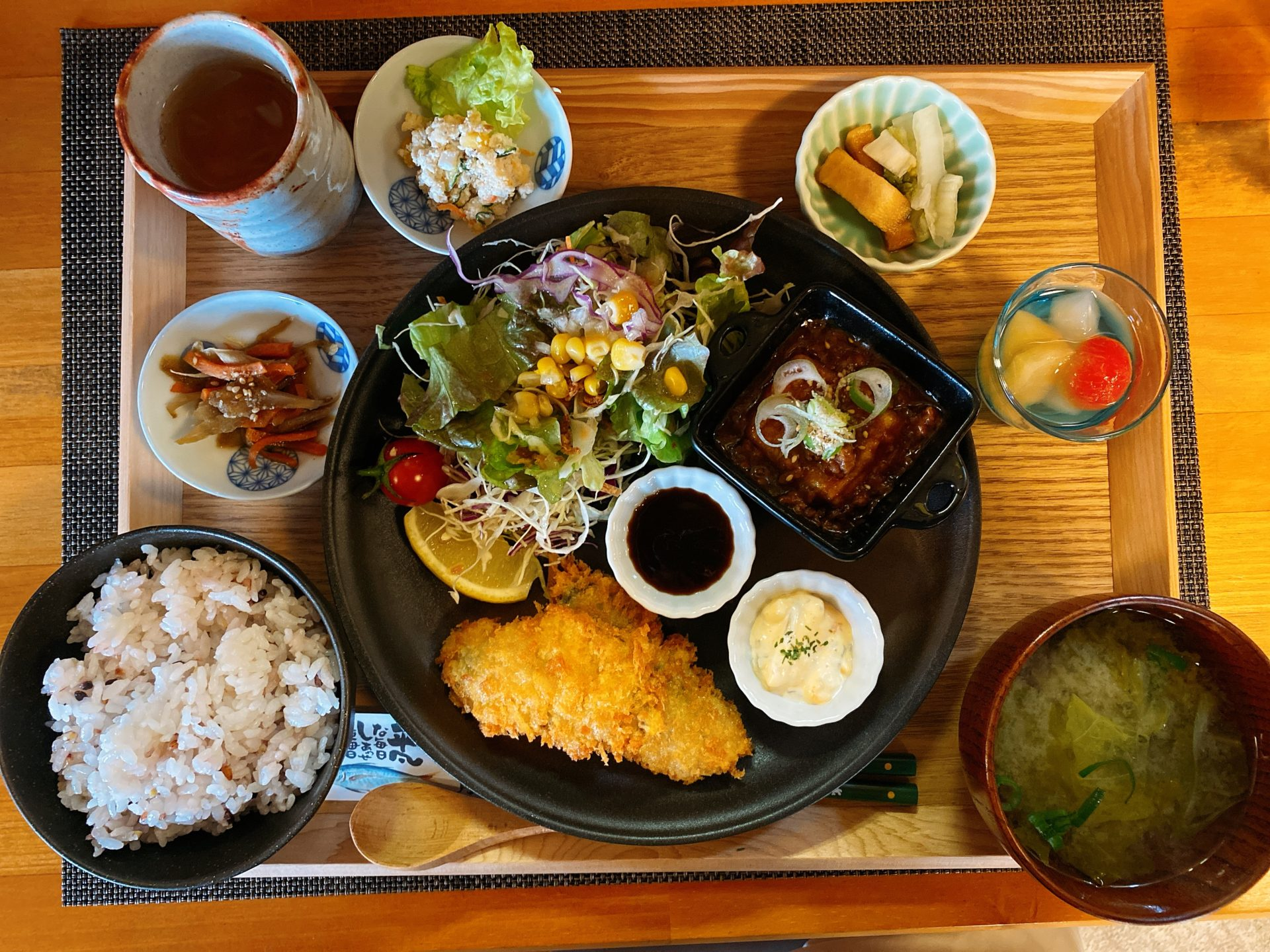赤磐市 12月オープンの 月うさぎのランチは定食AとBどちらも1000円!味もコスパも雰囲気も良く、おススメできる店です