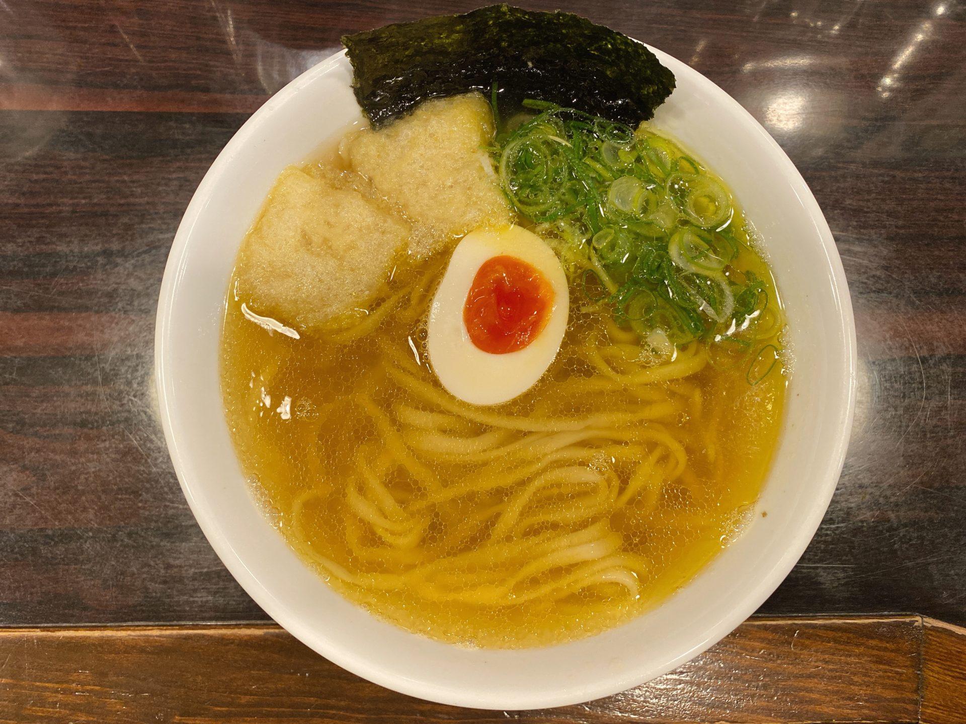県庁すぐ近く 麺や 心楽(こらく)は朝ラーメンが6時から楽しめる!550円の煮干しスープの上品な鮮烈さと、麺の心地よさにノックダウン!
