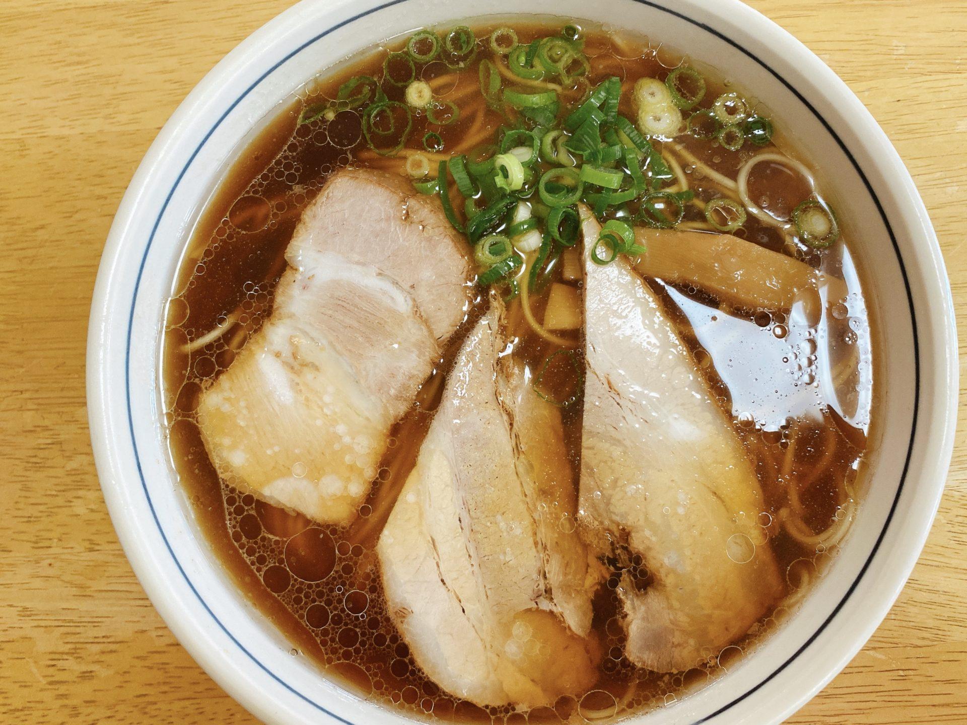 和気駅から車で2分【中華そば てんしん】豚骨のみを使用したスープと特製醤油のバランスが素晴らしい!毎日でも食べたくなるラーメン!