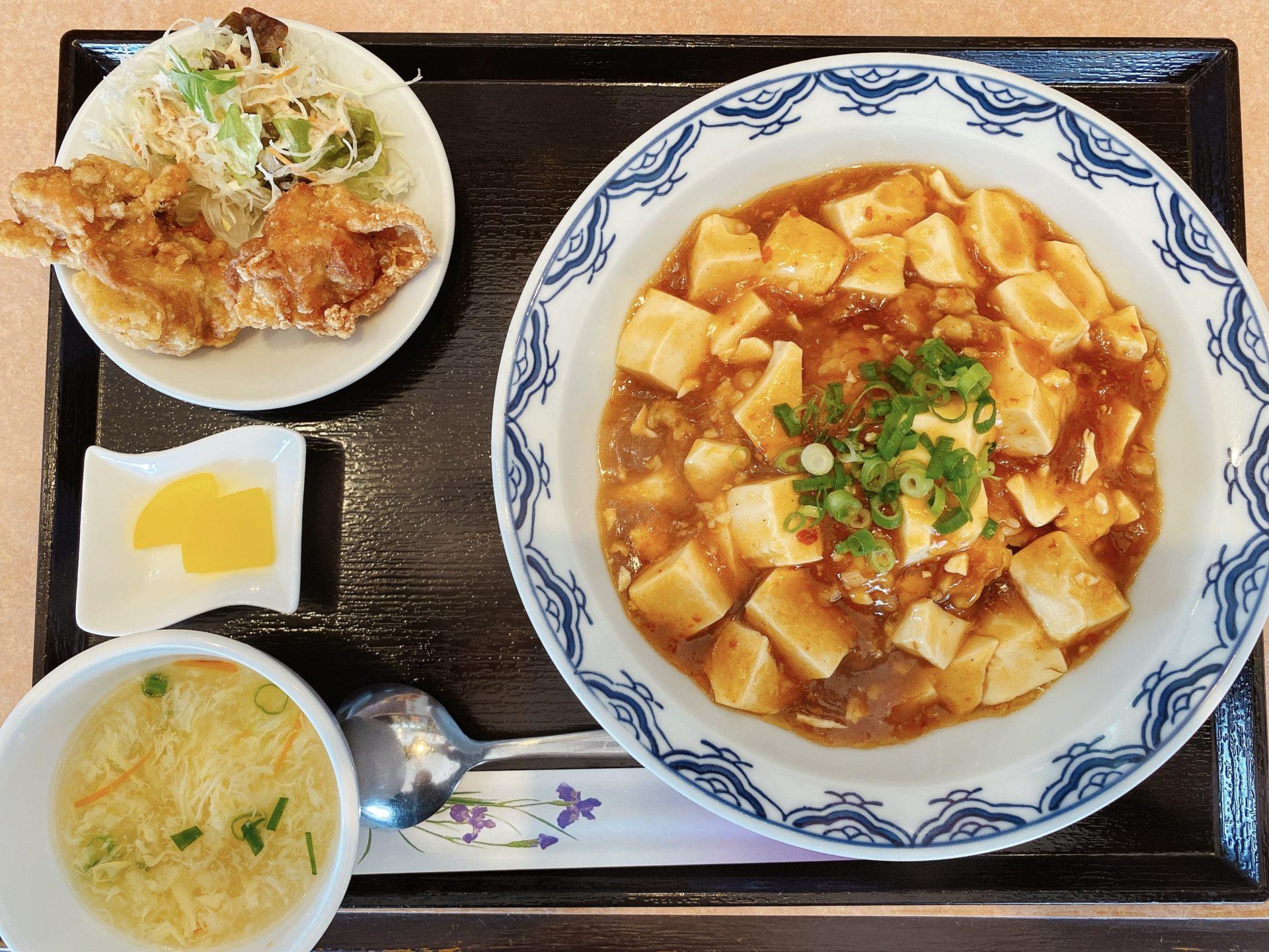 庭瀬駅から車で3分 中華料理【友家(ゆうや)】で初ランチ!麻婆豆腐と四川担々麺・炒飯のセットで悩んだ結果・・・・