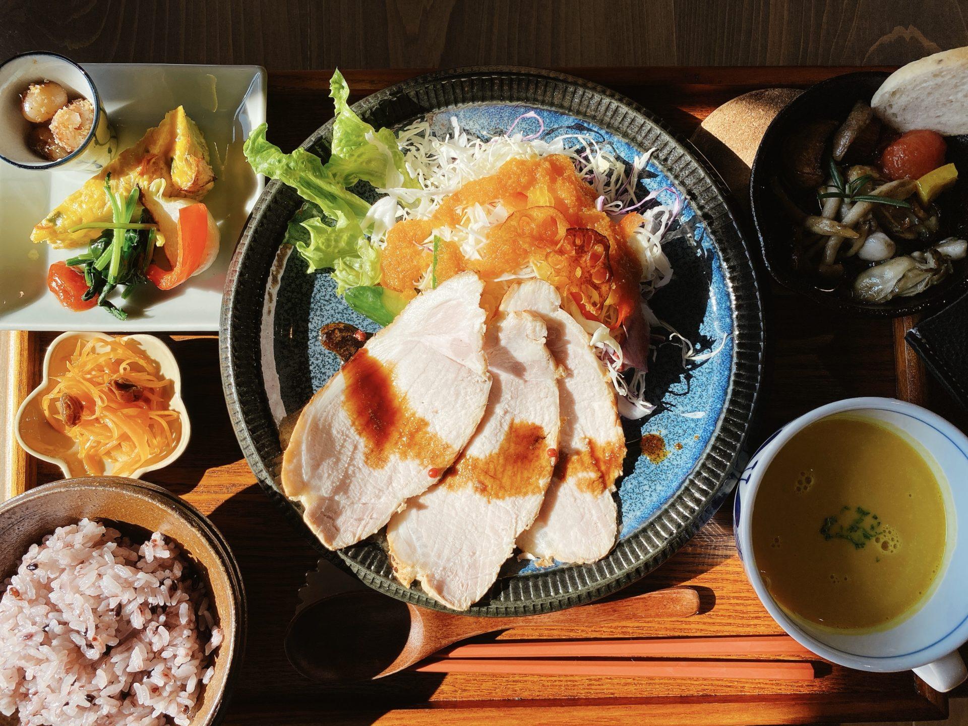 備前市日生町 寒河駅から徒歩5分 古民家カフェ【 天goo(てんぐー)】の健康をテーマにしたランチは超おススメ!