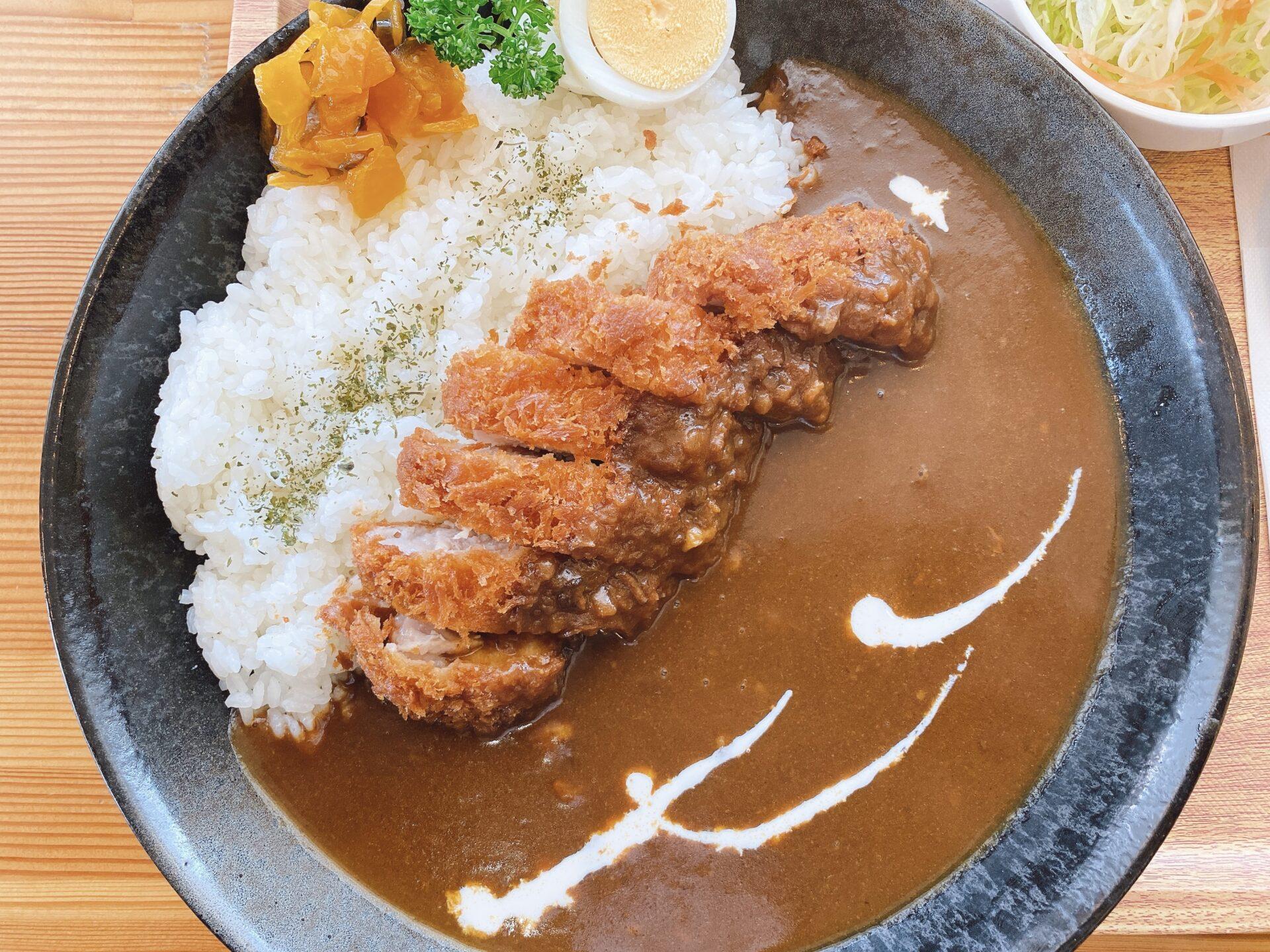西大寺駅から車で5分【カフェレスト ニューオーレ】トンカツフェアで食べたランチはカツカレー!欧風カレーがお腹を満たす~