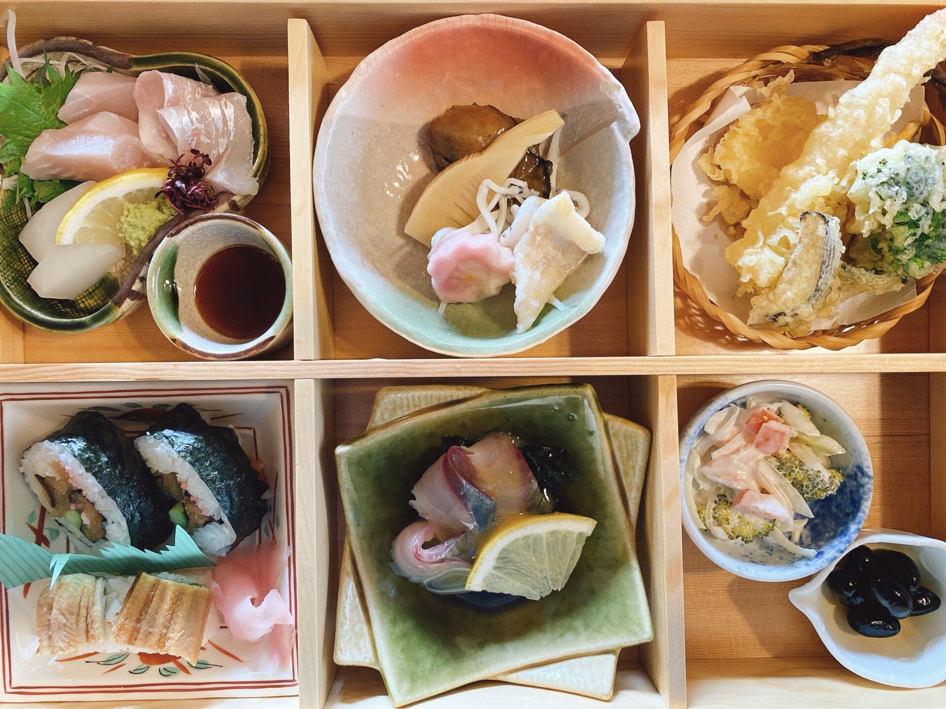 赤磐市で半年前に開店した和食の店【御善房たか本】初ランチでコスパの良さに驚き!牡蠣鍋も付いた松花堂がおススメ!