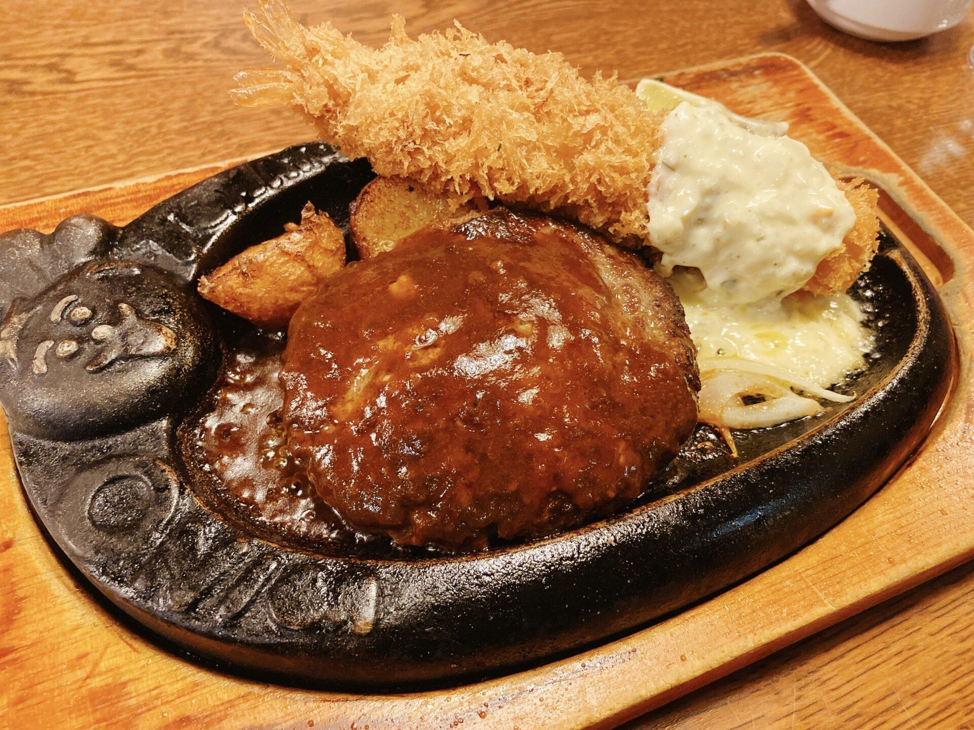 トマト&オニオン 岡山城東店 数量限定!至高の神戸牛ハンバーグにて夕食タイム!溢れる肉汁が口の中に広がる・・・・
