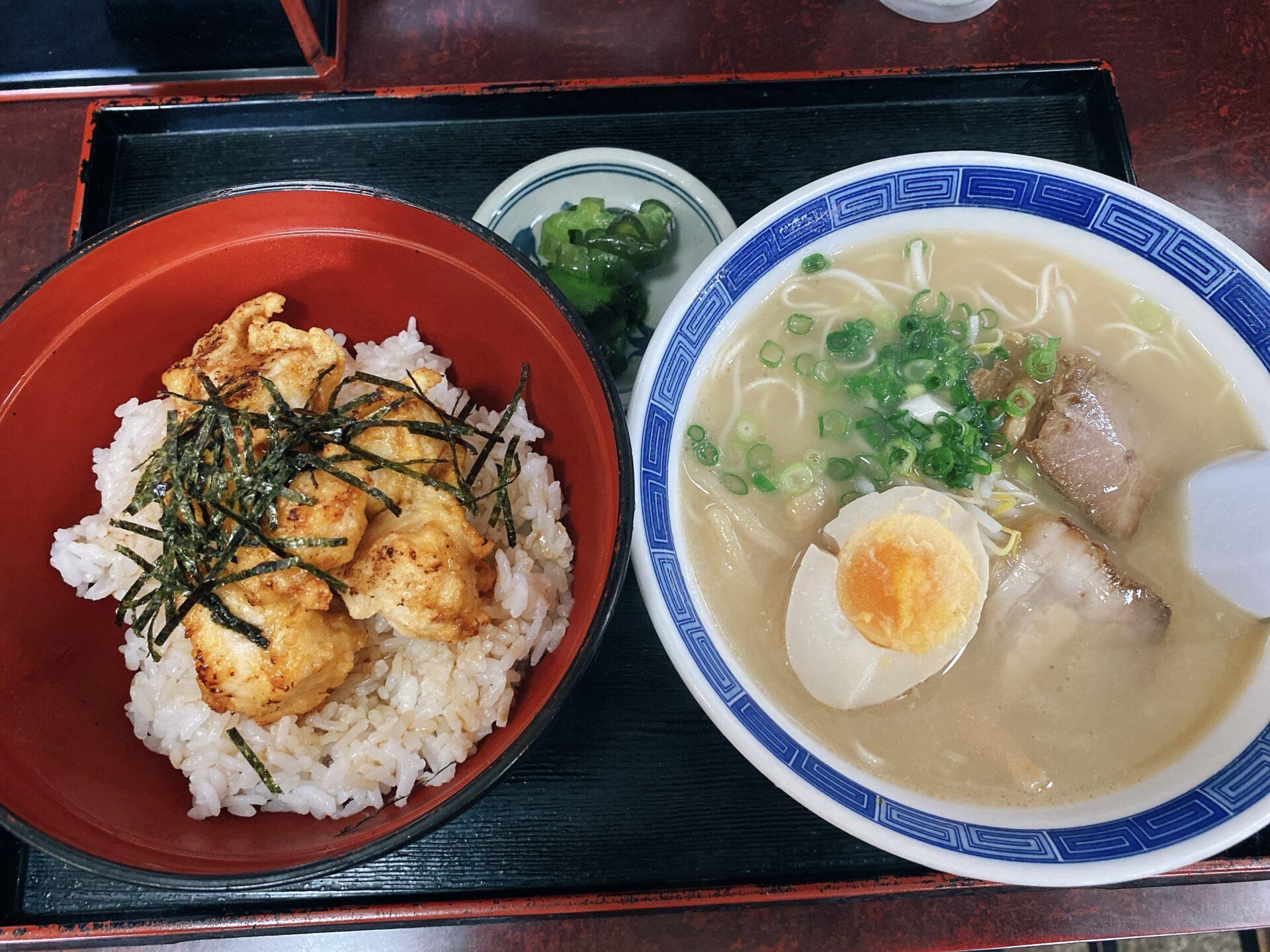 赤磐市周匝【ラーメン蔵】ラーメンが550円!唐揚げ丼とのセットの定食も750円のコスパの良さ!