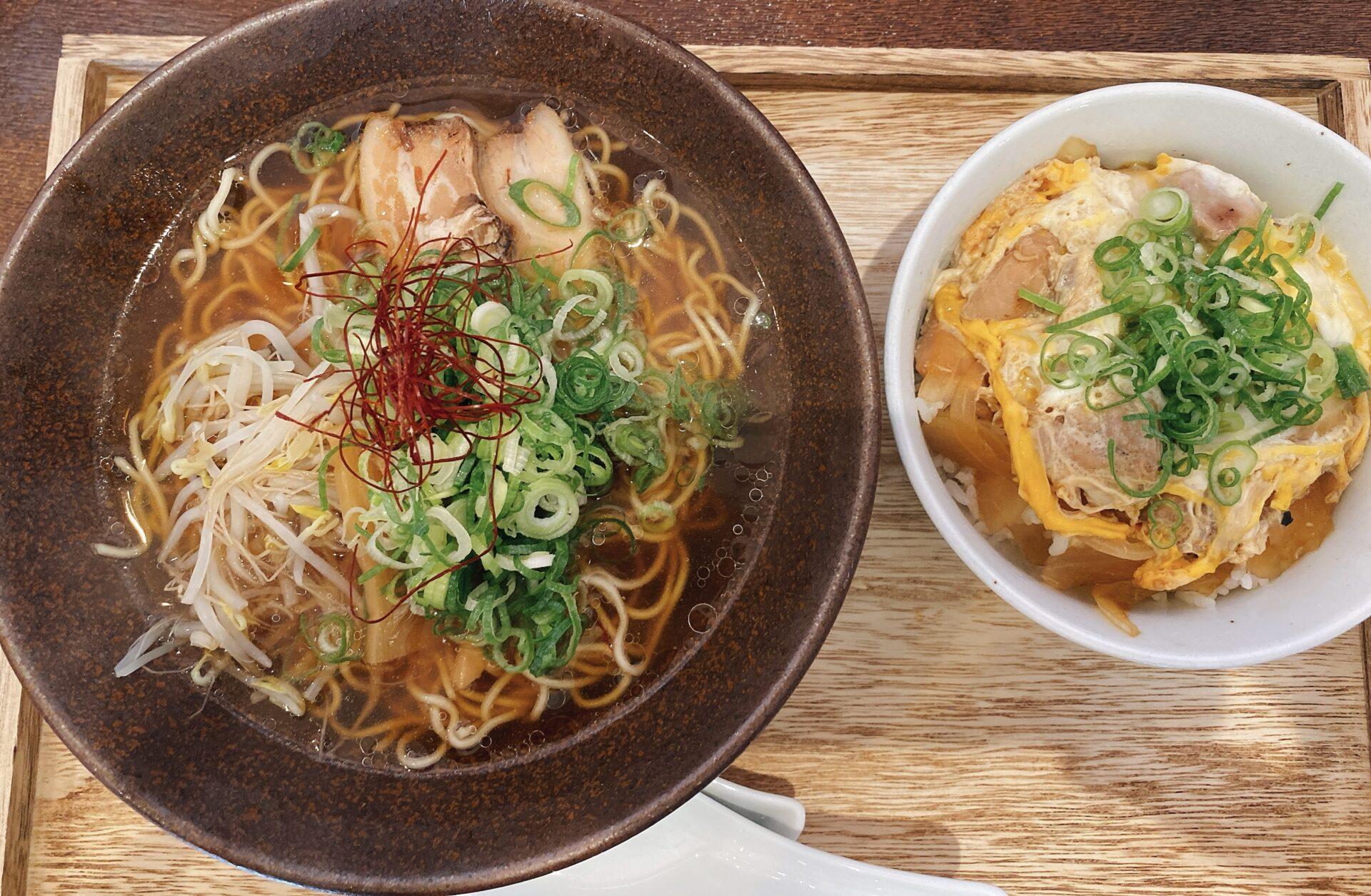 赤磐市【中華そば きんばね】鶏ガラスープ好きには堪らないラーメン店がオープン!ガッツリいくなら丼とセットがおススメ!
